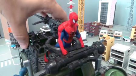 蜘蛛侠:蜘蛛侠和超级英雄在卡车上战斗!