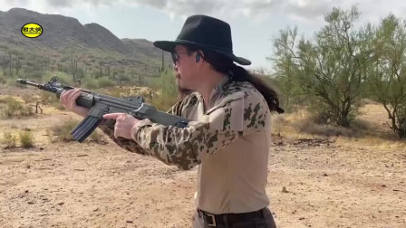 西班牙CETME突击步枪,户外靶场射击实测,感觉挺有威力的样子