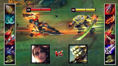 LOL:神装莎弥拉VS神装剑圣,哪个英雄更强?
