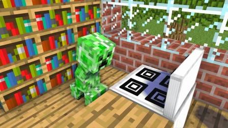 Minecraft动画:him饿极了啃骷髅小白骨头!