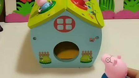 猪爸爸叫佩奇和乔治出来玩,可是佩奇和乔治都出不去,你有什么好办法吗
