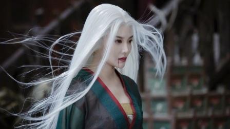 徐冬冬晒古装造型 自称史上最肥最凶的白发魔女