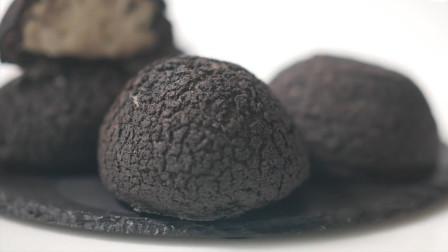 泡芙的种类那么多,这种纯黑色的你吃过吗?挤满奶油孩子的最爱