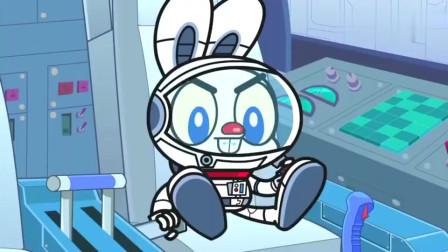 哈利与萌萌兔:哈利与萌萌兔去到太空,要怎么样飞回地球!
