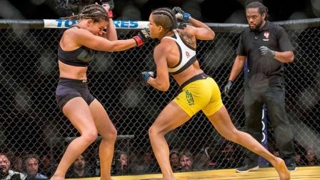 """当UFC最美遇到最强,米莎大战""""母狮""""努涅斯,血染八角笼!"""