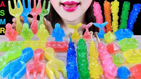 不同造型的创意琥珀糖,沙沙的口感爽翻耳朵,缤纷的色彩真是养眼