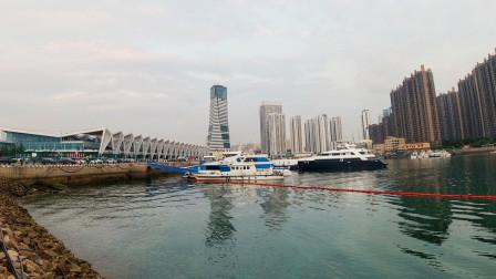 实拍青岛邮轮母港,投资10亿元,可以停靠世界上最大的邮轮