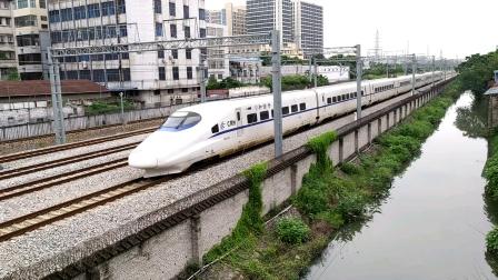 2020年9月27日,D1859次(德阳站-广州站)本务中国铁路广州局集团有限公司广州动车段佛山西客专动车运用所CRH2A-2344盐步大道通过