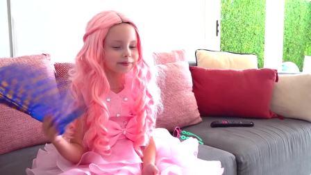 国外儿童时尚,小萝莉遇到了玩具独角兽,真有意思啊