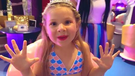 国外少儿时尚,小姑娘变成美人鱼,真是太好看了