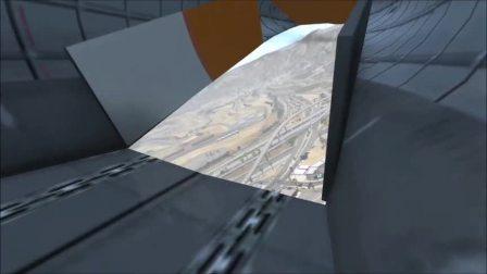 搞笑玩法,超大运输机从空中把小轿车扔下去,画面极度舒适,车祸模拟器