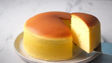太不可思议了!日本超火爆舒芙蕾蛋糕在家就能做,切的瞬间巨治愈