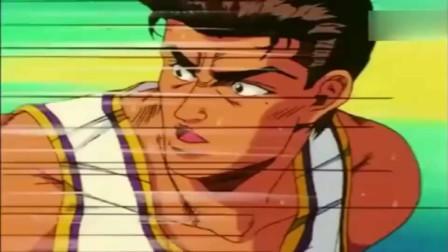 灌篮高手:流川枫断球投球一气呵成,满场的不可思议