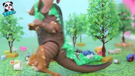 搞笑宝宝巴士益智玩具:这下干净了垃圾怪就不会再来了