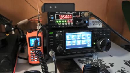 用国产自制电台呼叫,没有信号却突然传来一阵声音,吓得赶紧关机
