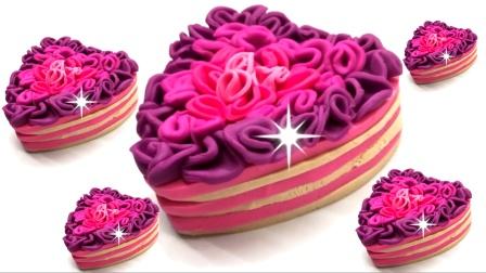 亲子手工diy之制作彩色玫瑰花多层蛋糕