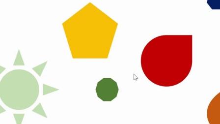 ppt画面的稳定性视频:元素形状大小统一颜色谐调规律分布