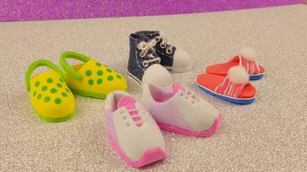 趣味手工:芭比娃娃的迷你小白鞋