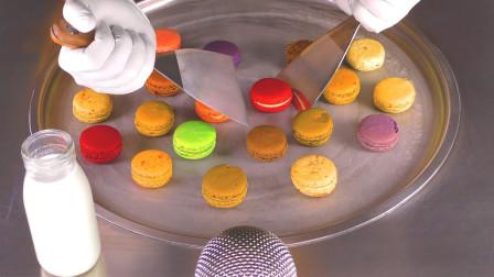"""彩色的""""马卡龙""""甜点,制作炒冰会怎么样?成品让人口水直流!"""