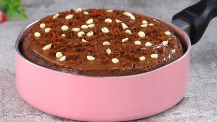 太好玩了!巧克力海绵蛋糕你见过吗?原来做法这么简单,无烤箱