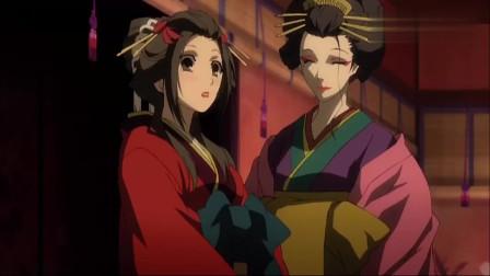 薄樱鬼:千鹤终于穿上了女装了,平助看到后,连酒都溢出来了