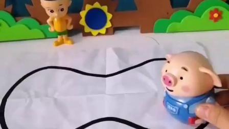 益智亲子宝宝幼教:大头把猪小屁气回家了