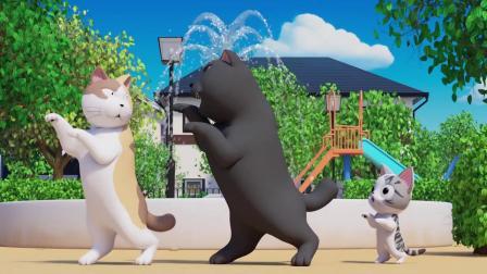甜甜私房猫:大黑跳舞真棒!