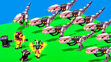 机器人大乱斗 多人模式铠甲勇士大战装甲机械龙 屌德斯阿波兔