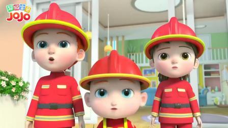 超级宝贝:小狗好可爱,被箱子困住了,小小消防员帮助它