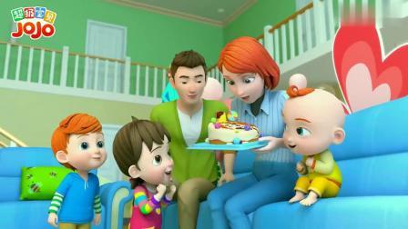超级宝贝:妈妈收到孩子做的蛋糕,心里很开心呀