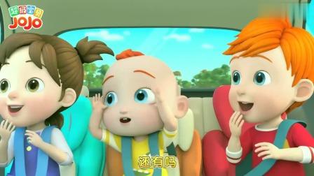 超级宝贝:爸爸在开车,突然飘过来蓝色气球,要注意安全呀
