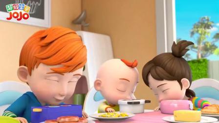 超级宝贝:爸妈带孩子野餐,小朋友准备野餐便当,爸妈在旁边指导