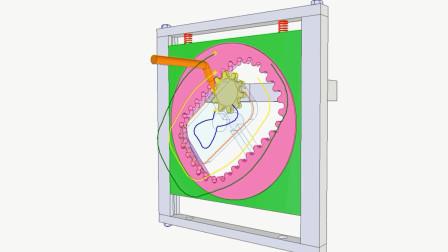 采用螺母的减速器,见识这个创意的设计!