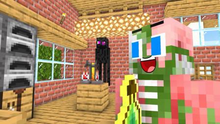 我的世界动画-怪物学院-炼药变身课-MineCZ