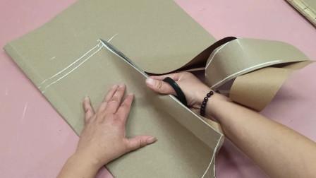 女士卫衣裁剪教程,裁缝姐教你制图打版,特别简单好学