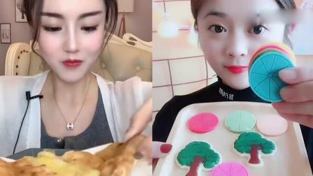 萌姐吃播:爆浆小榴莲蛋糕、彩色卡通巧克力,你们吃过吗?