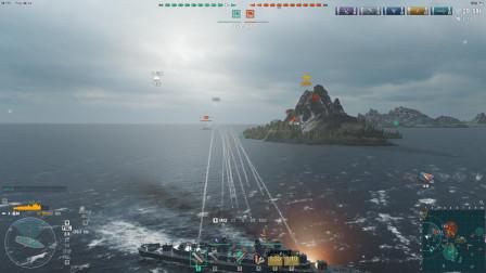 战舰世界:我一个驱逐舰被巡洋舰盯上了,想跑一点机会都不给