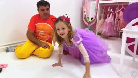 爸爸送的新裙子,小萌娃好漂亮
