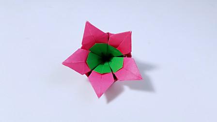 教你折纸星星五瓣花,简单漂亮,儿童很喜欢
