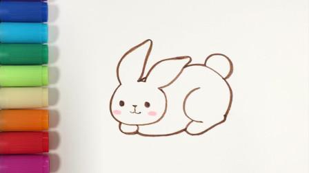 多多学画画 兔子 学画中国中秋神话中的玉兔