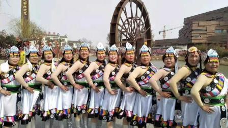 陕西风玲广场舞,2020庆国庆文化汇演,吉祥欢歌