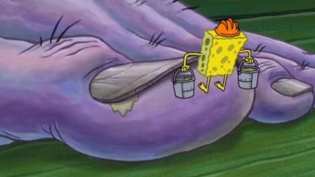 海绵宝宝抠人类脚趾缝里的臭泥儿,一桶一桶拎出黄汤