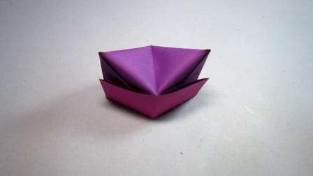 手工折纸教程,简单帽子的折法