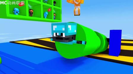 我的世界动画-怪物学院-高空冲关跑酷挑战-KRMStudioZ