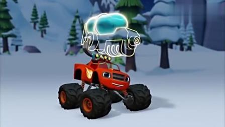 旋风战车队:飙速变身超级水枪怪兽机器车,雪球没什么可怕!