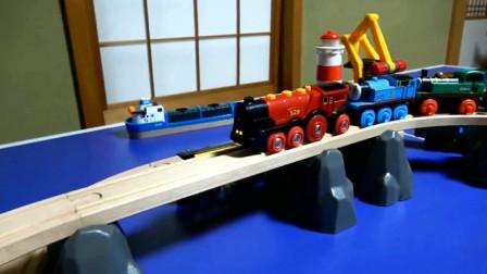 拼装托马斯小火车彩色运输轨道隧道玩具 创意玩具