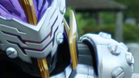 假面骑士圣刃第5集:圣刃使用三位一体形态打败怪人