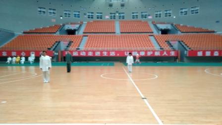 江西省新余市电工厂太极队单项42式太极拳比赛曾瑞贞演练