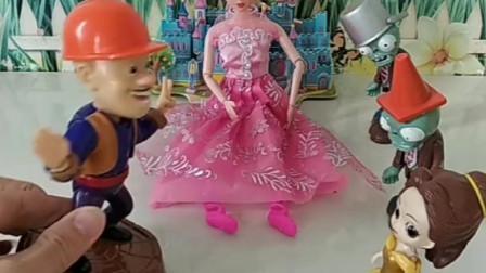 贝儿发现婚纱和高跟鞋,是光头强给女朋友买的,贝儿把僵尸喊来了!