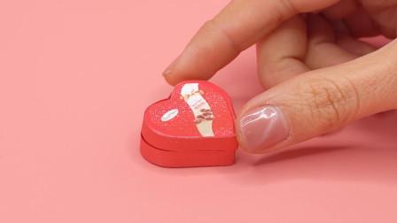 DIY手作,芭比娃娃的迷你巧克力爱心礼盒